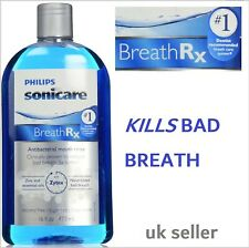 **UK** Philips Sonicare BreathRx Mouthwash Bad Breath Mouth Rinse Antibacterial