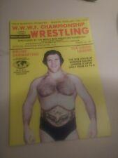 mint 1979 Wrestling program WWF NWA Backlund Sammartino Kolof Valentine Bad News