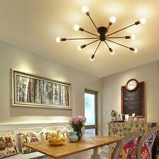 Modern Ceiling Light Fixture Flush Mount 10-Light Black Metal Ceiling Lamp NEW