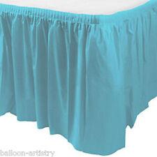 14ft Plastic CARIBBEAN BLUE Table Skirt wedding