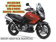 SUZUKI V-STROM DL-1000 2002 COMPLETE SHOP MANUAL- PDF-FROMAT/ NOT CD