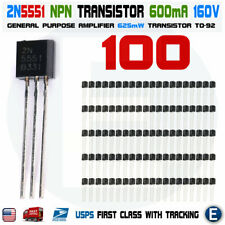 100pcs 2N5401 PNP Transistor 150V 600 mA TO-92 Package USA Seller