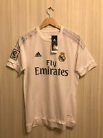 5+/5 Real Madrid 2015/2016 home Sz S Adidas shirt jersey maillot football soccer