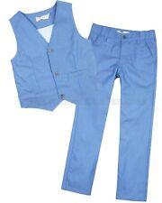 Deux par Deux Boys' Blue Vest and Pants Cool Class, Sizes 5-10