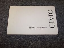 1997 Honda Civic Hatchback Owner Owner's Manual User Guide 3 Door CX DX 1.6L