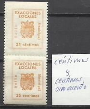 5751-ERROR SELLOS FISCALES EXACCIONES LOCALES céntimos y centimos ,ver acento