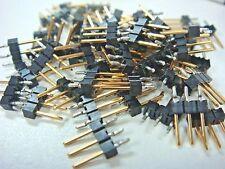 (100) 104345-1 3PIN GOLD HEADER CONNECTOR MODII BREAKAWAY SINGLE ROW MALE 2.54mm