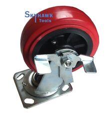 "6"" Casters top plate Polyurethane pu 2 Swivel Brakes or Lockers Wheels"