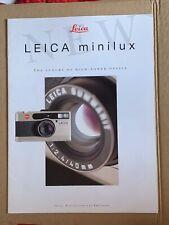 Leica Minilux, folleto de producto A4