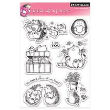 PENNY BLACK RUBBER STAMPS CLEAR PIECE OF MY HEART 8 LOVE VALENTINE STAMP SET