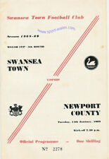 SWANSEA CITY v NEWPORT COUNTY 14 JAN 1969 WELSH CUP PRO