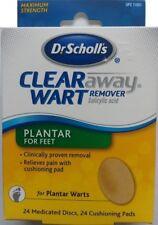 Dr. Scholl's Clear Away Wart Remover, Plantar, for Feet, Maximum Strength, Discs