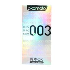 Okamoto 003 Platinum Condom Ultra Thin 0.03mm Lubricant Condoms 10pcs/1box