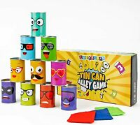 Bean Bag Can Toss Game Kids Fun Indoor Outdoor Games Toys Tin Can Alley Game