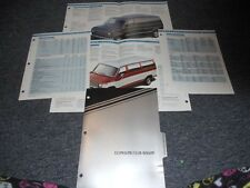 1989 Ford Econoline Club Wagon Dealer Album Sheets Broc
