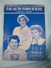 Stars Are The Windows Of Heaven Sheet Music Vintage 1926 Tommy Malie (O) AS IS