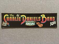 Vintage Unused Charlie Daniels Band Skoal Bumper Sticker