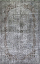 6x9 Ft  Gray Color OVERDYED Handmade Vintage Turkish Rug k261