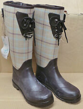 Laura Ashley Womens Brown Chequered Hunter Wellies Wellington Boots UK: 4,6,7