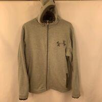 Under Armour Sweatshirt Storm Fleece Sherpa Men's L Gray Zip Up Hoodie Jacket