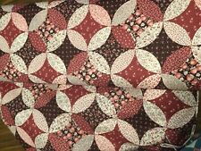Vintage CRANSTON VIP FABRIC Red Strawberry Patchwork 3 yards