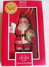 Lenox Holiday Annual 2015 Lighting The Way Santa Xmas Ornament - Nib Msrp $60