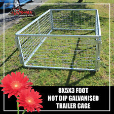 TRAILER CAGE 8X5X3FT.  FULLY GALVANISED. BOX TUBING! SMART LOCK IN SYSTEM