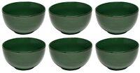 Sunnex Set of 6 Reactive Glazed Stoneware Bowls Viva Tapas Cereal Bowls Green