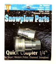 "Quick coupler, 1/4"",Snow Plow, Meyer 15072, Western 25232, part #1304025"