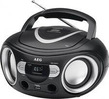 Tragbarer CD-Player mit CD, MP3, USB, Aux-In AEG Boombox SR 4374 schwarz