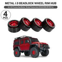 4PCS Metal 1.9 Beadlock Wheel Rim Hub for 1/10 Traxxas Axial SCX10 RC Car U5B5