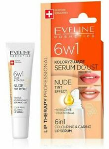 Eveline LIP THERAPY 6in1 Care & Colour Intensive Lip Balm Serum - Nude 12ml