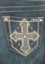 Ariat TURQUOISE CROSS BOOT CUT JEANS  NWT