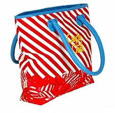 Candy Crush Red Stripe Tote Bag