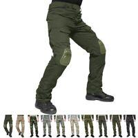 Men Tactical Army Combat  Kneecap Pants Military Camouflage Trouser Kneelet