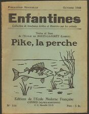 """45 BOUZY-LA-FORET BROCHURE """" PIKE LA PERCHE """" PECHE 1946"""