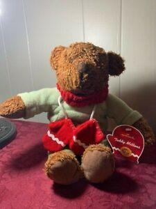 Hallmark Teddy Mittens Teddy bear with scarf and mittens W/Tag