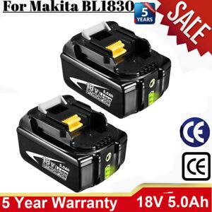 4X 18V 5AH Für Makita Original Ersatzakku BL1850 Li-ion BL1860 BL1840 BL1830 LED