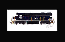 "Chicago & Eastern Illinois GP35 #264 11""x17"" Matted Print Andy Fletcher signed"