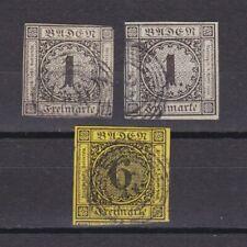 GERMAN BADEN 1853, Mi#5,7, CV €96, Used