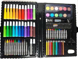 Malkoffer 86 tlg. Zeichnen, Kinder, Schule, Set mit vielen Stiften, Mal-Koffer