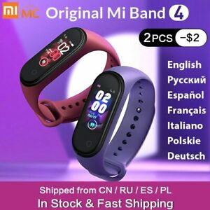 In Stock Xiaomi Mi Band 4 Smart Miband 3 Color AMOLED Screen Bracelet Heart