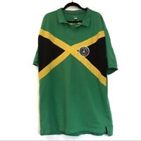 [LRG] Jamaican Flag Collared T-Shirt w/ Embroidered Back and Patches Size 3XL
