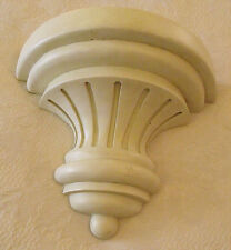 Vtg Shabby Creamy White 1/2 Round Column Wall Shelf Heavy Molded Plastic '99 ABC