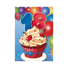 ★6 BIGLIETTINI INVITO BIGLIETTI INVITI FESTA COMPLEANNO 18 ANNI + BUSTA ID21★