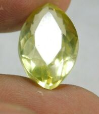 UNTREATED NATURAL 15.10 cts. YELLOW SAPPHIRE MARQUISE CUT LOOSE GEMSTONE NR8360