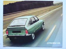 Prospekt Citroen GS Limousine/Break, 9.1972, 6 Seiten, folder