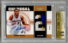 2010-11 National Treasures JOHN WALL Rookie RC Patch Auto 2/12 BGS 9.5/10 !! 1/1