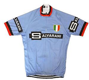 SALVARANI  RETRO VINTAGE CYCLING TEAM BIKE CYCLE SHORT SLEEVE SUMMER JERSEY