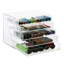 Extra Large 5 Tier Clear Acrylic Makeup Drawers Holder Case Box Jewelry Storage